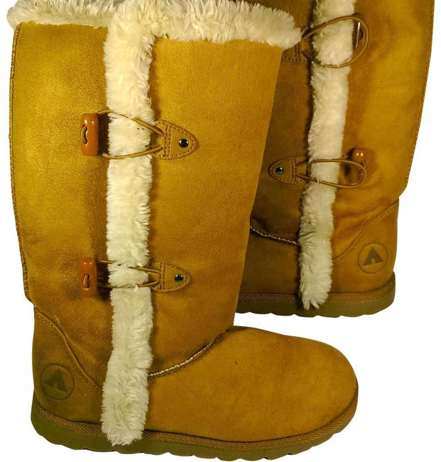 Item - Tan Rust Brown Leather Women's Full Calf Faux Fur Lined Boots/Booties Size US 5 Regular (M, B)