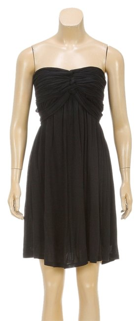 Preload https://item2.tradesy.com/images/bcbgmaxazria-black-strapless-waist-tie-ruched-s-111902-mid-length-short-casual-dress-size-4-s-2805571-0-0.jpg?width=400&height=650