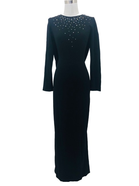 Item - Black J1 Vintage Small 6 Rhinestone Drop Long Formal Dress Size 4 (S)