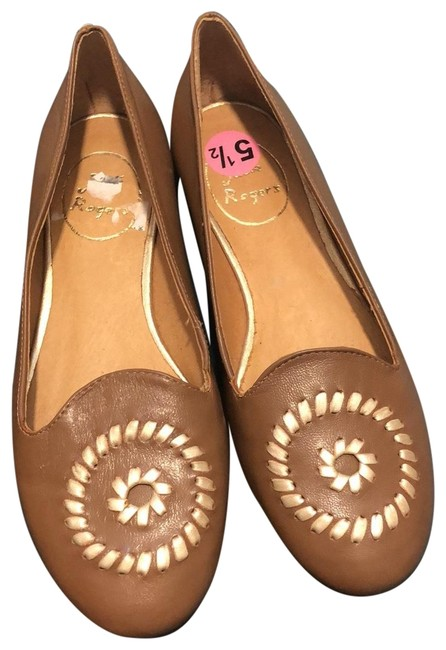 Jack Rogers Oak/Gold Waverly Flats Size US 5.5 Regular (M, B) Jack Rogers Oak/Gold Waverly Flats Size US 5.5 Regular (M, B) Image 1