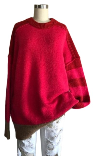 Preload https://img-static.tradesy.com/item/28055948/french-connection-conn-natalya-knits-colorblock-crew-neck-pink-tan-sweater-0-1-650-650.jpg