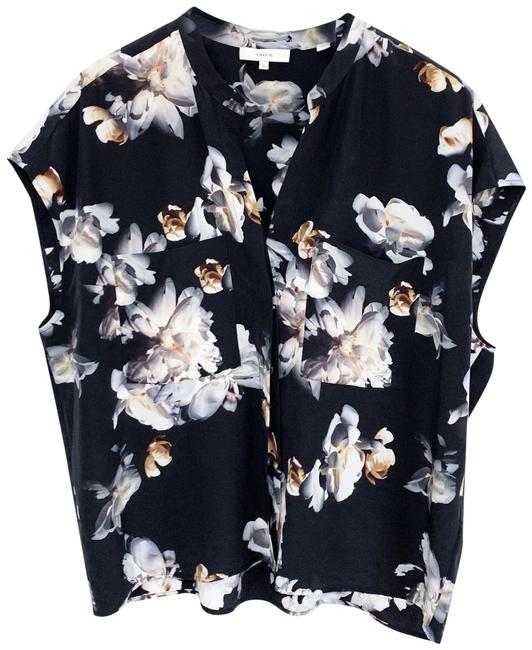 Preload https://img-static.tradesy.com/item/28055950/vince-black-peony-floral-print-short-sleeve-silk-shell-blouse-size-16-xl-plus-0x-0-1-650-650.jpg