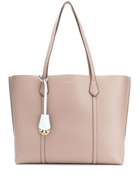 Item - Perry Grey Heron Leather Tote