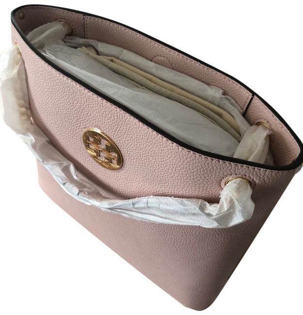 Tory Burch Everly Swingpack Shoulder Shell Pink Leather Cross Body Bag Tory Burch Everly Swingpack Shoulder Shell Pink Leather Cross Body Bag Image 1