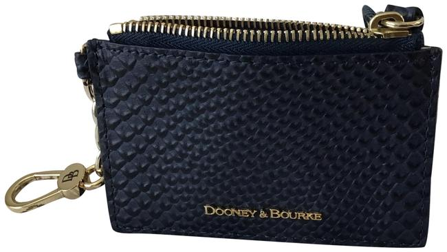 Dooney & Bourke Midnight Blue Mlb Zip Top Card Case Wallet Dooney & Bourke Midnight Blue Mlb Zip Top Card Case Wallet Image 1