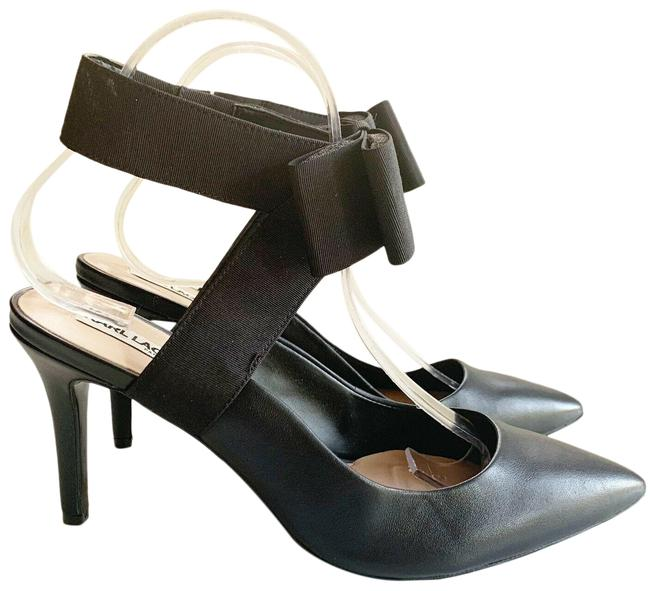 Karl Lagerfeld Black Robin Leather Bow Pumps Size US 9 Regular (M, B) Karl Lagerfeld Black Robin Leather Bow Pumps Size US 9 Regular (M, B) Image 1