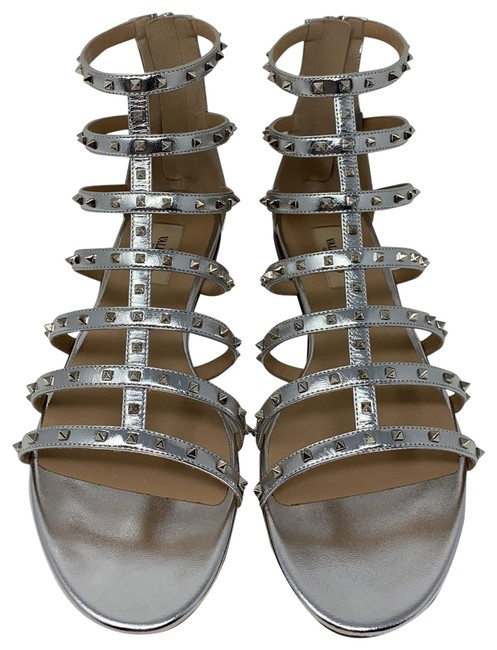 Valentino Silver New Sandals Size EU 40 (Approx. US 10) Regular (M, B) Valentino Silver New Sandals Size EU 40 (Approx. US 10) Regular (M, B) Image 1