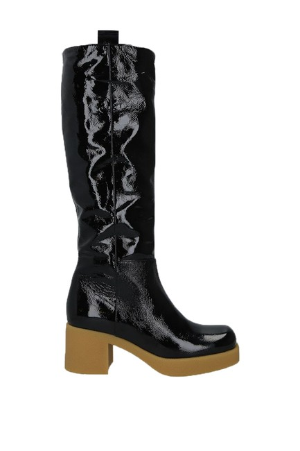 Item - Black Knee High Patent Leather Boots/Booties Size EU 39 (Approx. US 9) Regular (M, B)