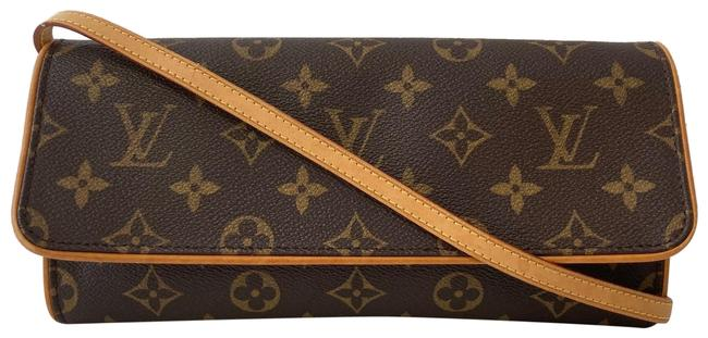 Louis Vuitton Pochette Twin Gm Brown Monogram Canvas Cross Body Bag Louis Vuitton Pochette Twin Gm Brown Monogram Canvas Cross Body Bag Image 1