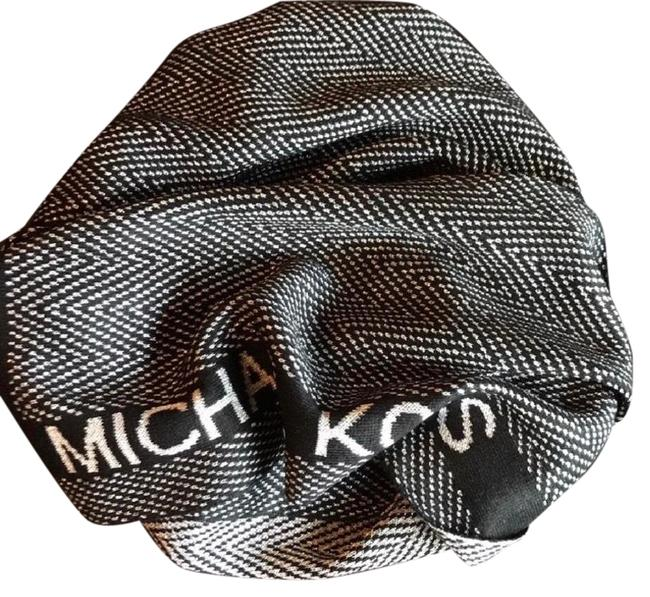 Michael Kors Black /Metallic Silver Signature with Detail's Scarf/Wrap Michael Kors Black /Metallic Silver Signature with Detail's Scarf/Wrap Image 1