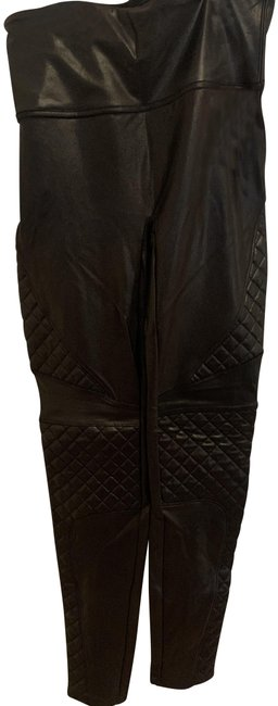 Preload https://img-static.tradesy.com/item/28056422/spanx-very-black-quilted-faux-leather-activewear-bottoms-size-4-s-27-0-1-650-650.jpg