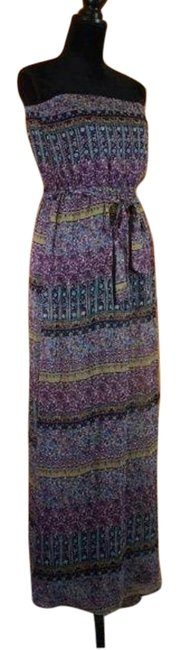 Item - Multicolor Long Casual Maxi Dress Size 8 (M)