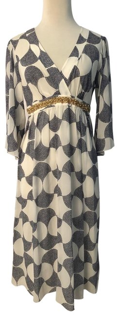 Item - Black/White/Gold Resort Mid-length Casual Maxi Dress Size 6 (S)