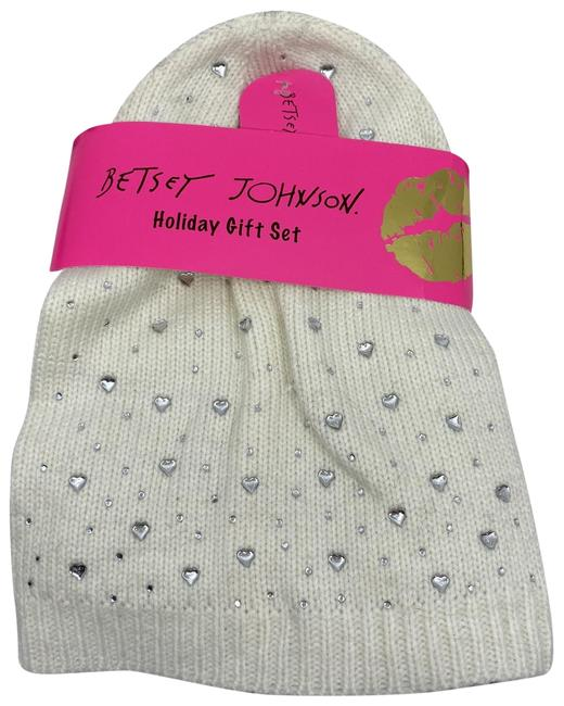 Item - Silver/White Gift Set and Beanie Scarf/Wrap