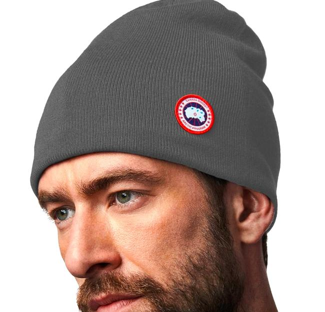 Item - Grey with Tag Standard Wool Blend Beanie Hat