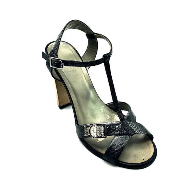Item - Silver Gray Fabulous Vintage Ostrich Paw Heels with Swarovski Crystals Sandals Size EU 38.5 (Approx. US 8.5) Wide (C, D)