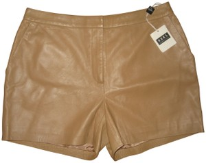Michael Kors Leather Dress Shorts tan