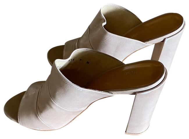 Item - Nude Block Heel Mules/Slides Size US 9 Regular (M, B)