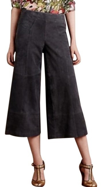 Item - Gray Sagebrush Suede Culottes By Elevenses Pants Size 6 (S, 28)
