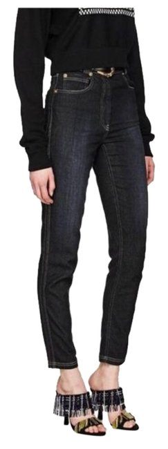 Item - Black High-rise Tapered Skinny Jeans Size 29 (6, M)