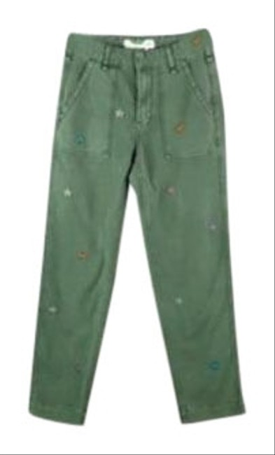 Item - Green Woman Embroidered Utility New Pants Size 0 (XS, 25)