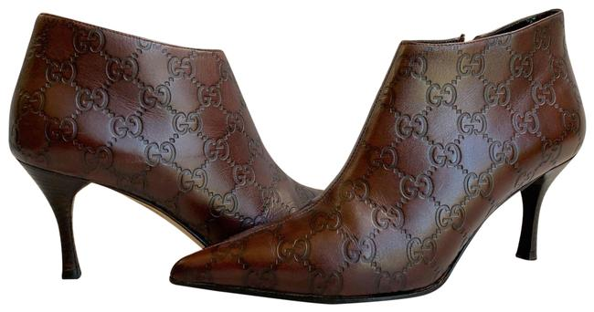 Item - Chocolate Brown Gg ssima Leather 146754 Boots/Booties Size US 6 Wide (C, D)