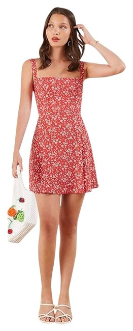 Item - Red Abby Short Casual Dress Size 12 (L)