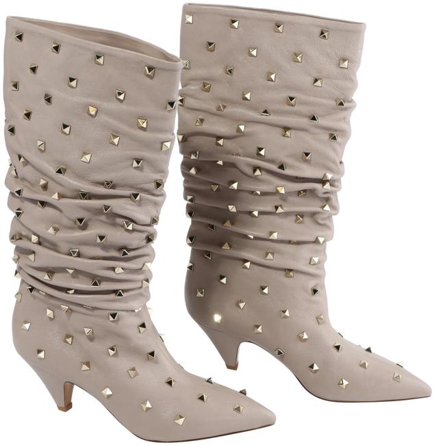 Item - Purple Garavani Rockstud Scrunch Knee Boots/Booties Size EU 38 (Approx. US 8) Regular (M, B)