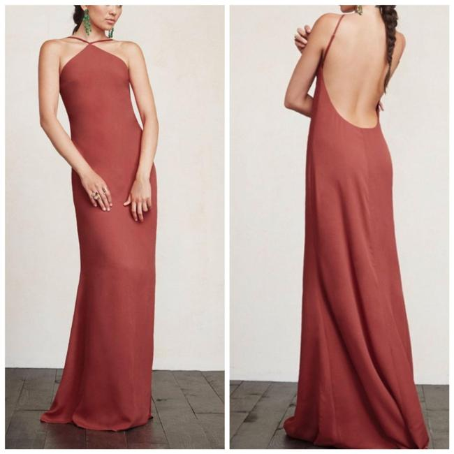 Item - Red Strawberry Fleur Long Cocktail Dress Size 0 (XS)