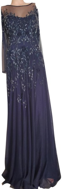 Item - Navy Mother Of The Bride Long Formal Dress Size 16 (XL, Plus 0x)