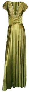 Butter by Nadia Made In Usa 70% Nylon / 30% Spandex Self Lined Lightweight Stretch Jersey Hand Washable Dress