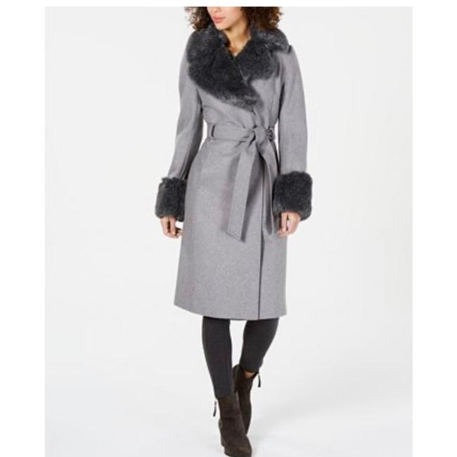 French Connection Gray 004 Coat Size 12 (L) French Connection Gray 004 Coat Size 12 (L) Image 1