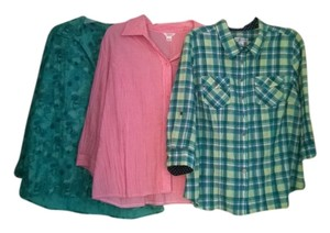 Christopher & Banks Lot Button Down Shirt