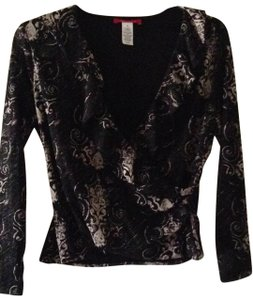 AK Anne Klein Top black & cream