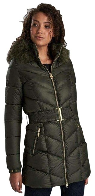 Item - Green Highpoint Quilted Coat Size 8 (M)