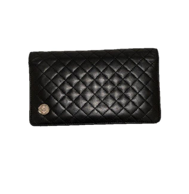 Item - Black & Pink Lambskin Quilted 2008 Wallet