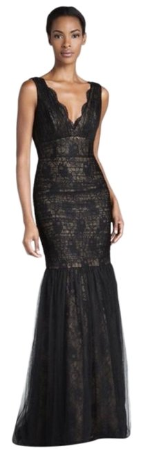Item - Black Tan Ml Lusting Over You Gown Floor Length Long Formal Dress Size 8 (M)
