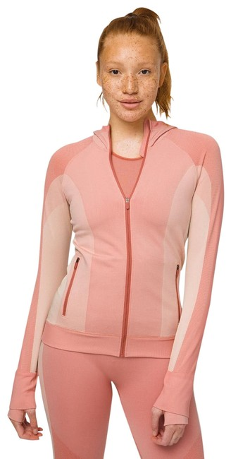 Item - Abstract Pink Salmon Ebb To Train Jacket Activewear Top Size 8 (M)