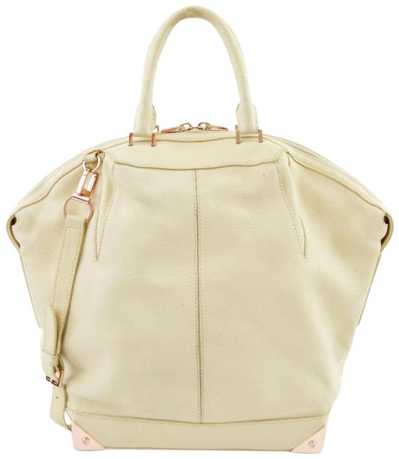 Item - Tote Bag #200-3 Ivory/ Gold Lambskin Leather Satchel