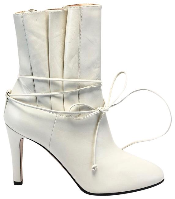 Item - White Indya Pleated Ankle Boots/Booties Size EU 39.5 (Approx. US 9.5) Regular (M, B)