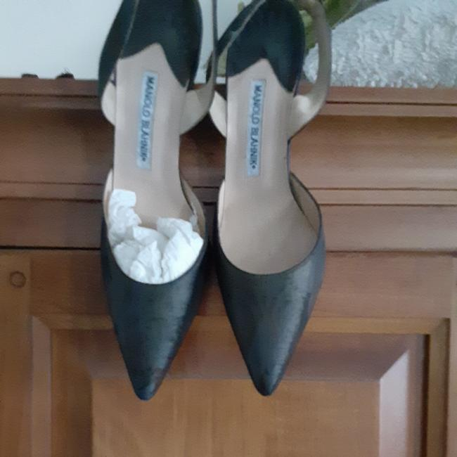 Item - Drak Green Satin In and Copper Color None Pumps Size EU 39.5 (Approx. US 9.5) Wide (C, D)