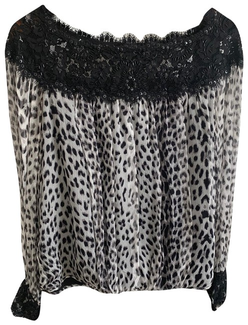 Item - Black and Grey Na Blouse Size 8 (M)