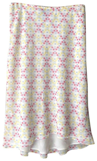 Item - White Yellow Pink Blue Got Flare Skirt Size 6 (S, 28)