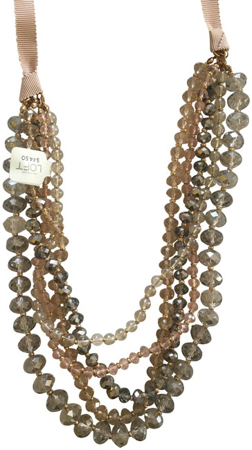 Item - Rose and Silver Statement Necklace
