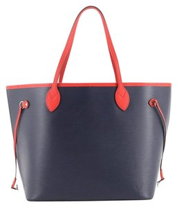 Louis Vuitton Leather Tote in blue
