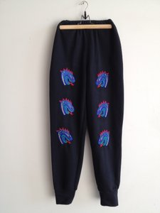 Kansai Yamamoto Dragon Heads embroidered athletic pants