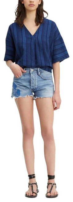 Levi's Medium Washed Blue Made&crafted High Rise Short/Sz:26/Nwt Shorts Size 2 (XS, 26) Levi's Medium Washed Blue Made&crafted High Rise Short/Sz:26/Nwt Shorts Size 2 (XS, 26) Image 1