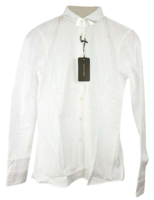 Item - White Classic Womans Shirt Button-down Top Size 4 (S)