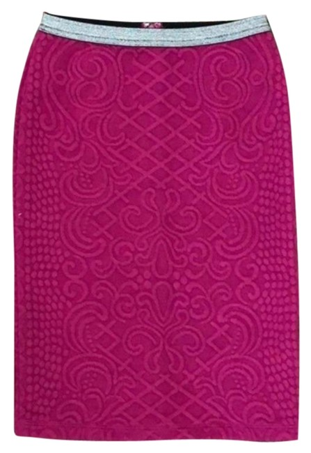 Item - Pink Silver Anthro Moulinette Soeurs Calabria Pencil Skirt Size 4 (S, 27)