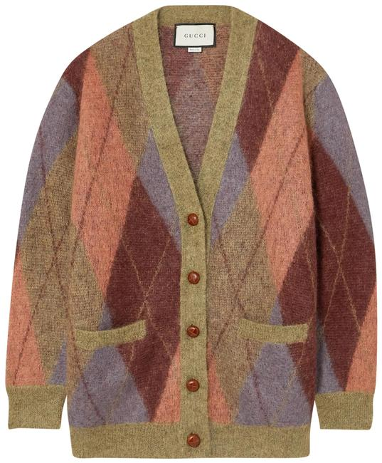 Preload https://img-static.tradesy.com/item/28062911/gucci-oversized-argyle-mohair-blend-cardigan-size-2-xs-0-1-650-650.jpg